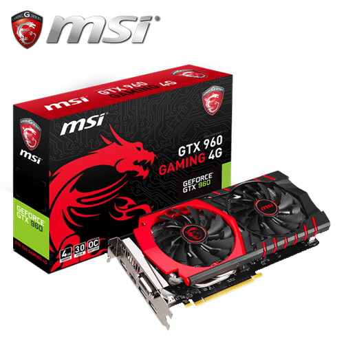 msi 微星 GTX 960 Gaming 4G 顯示卡