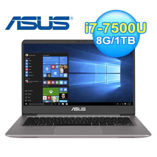 ASUS 華碩 UX410UQ-0091A 14吋 輕薄筆電 石英灰【買就送USB喇叭.16G隨身碟.散熱座...等11項好禮】