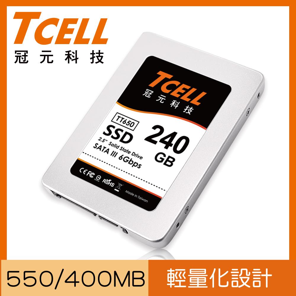 TCELL 冠元 SSD TT650 240GB 固态硬盘