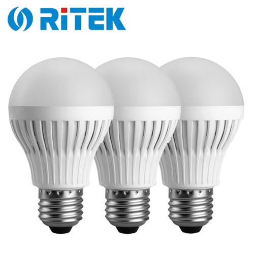 【3入】RiTEK 錸德 7W LED燈泡 白光