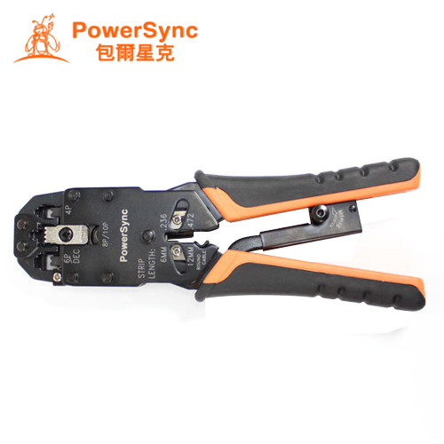 PowerSync 群加 網路/電話接頭壓剝剪鉗 G53