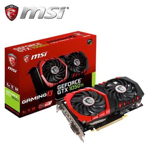 msi 微星 GTX 1050 Ti GAMING X 4G 显示卡