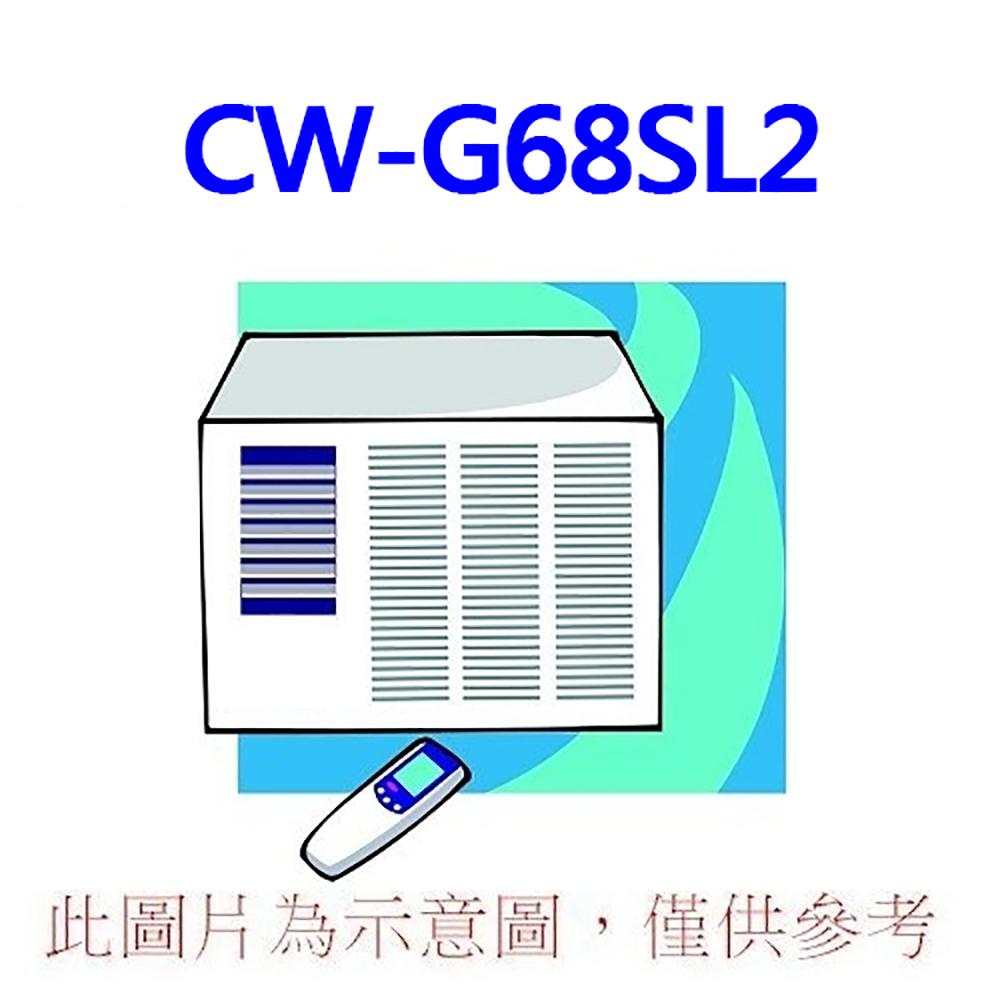 好禮五選一【Panasonic國際】10-12坪左吹定頻冷專窗型冷氣CW-G68SL2