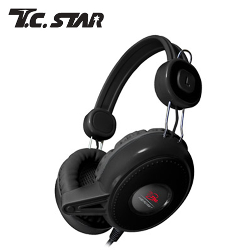 T.C.STAR TCE8600BK 頭戴式有線耳麥 黑
