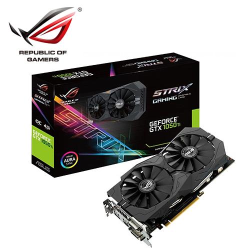 ASUS 華碩 STRIX-GTX1050TI-O4G-GAMING 顯示卡