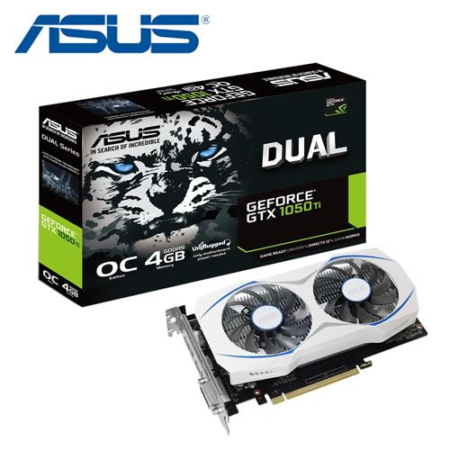 ASUS 华硕 DUAL-GTX1050TI-O4G-GAMING 显示卡