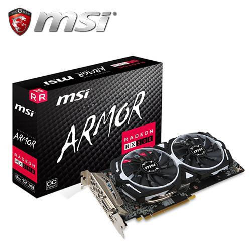 msi 微星 Radeon RX 580 ARMOR 8G OC