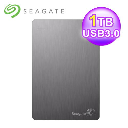 Seagate 希捷 Backup+ 2.5吋 1TB 外接硬碟 USB3.0 銀