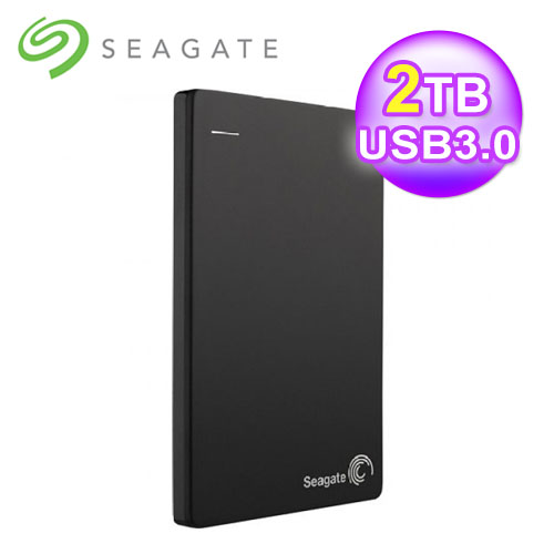 Seagate 希捷 Backup Plus Slim 2TB 外接式硬碟 - 黑
