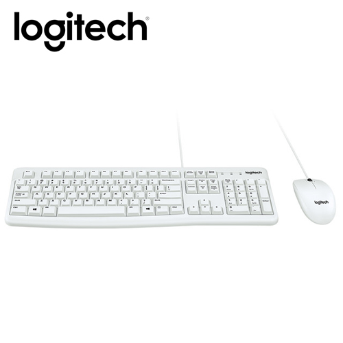 羅技 MK120有線鍵鼠組(白)