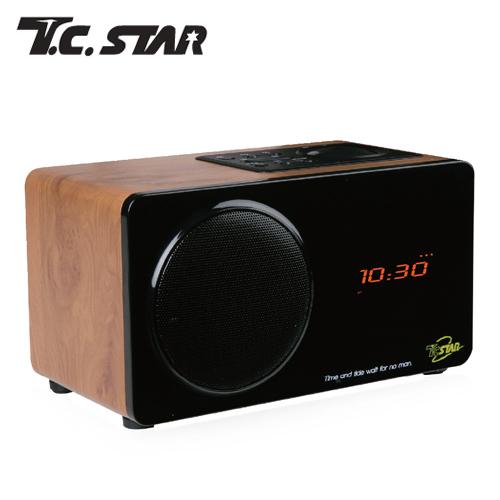 T.C.STAR TCS1300 木纹色无线蓝牙喇叭