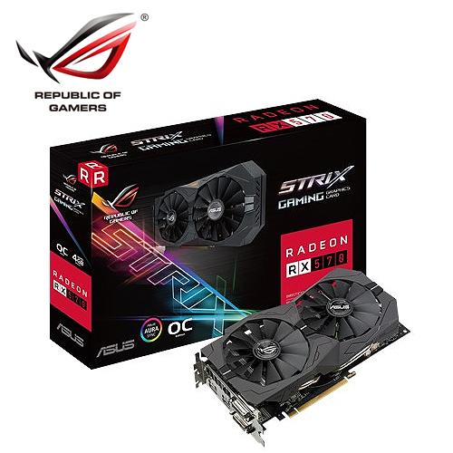 ASUS 华硕 STRIX-RX570-O4G-GAMING 显示卡