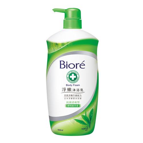 Biore 蜜妮 淨嫩沐浴乳 抗菌清爽型 靜岡綠茶香(1000ML)