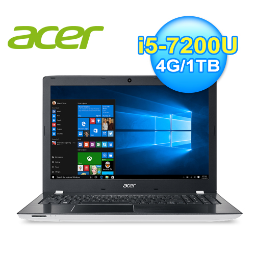 acer 宏碁 E5-575G-596Q 15.6吋七代白色筆電