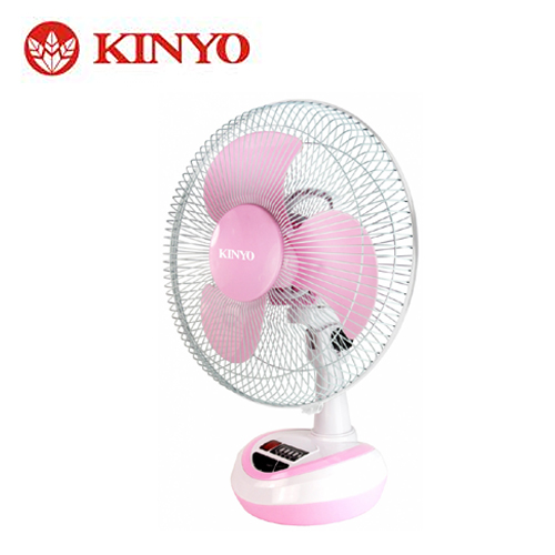 KINYO 耐嘉 12吋彩色充电风扇 CF-1201 粉