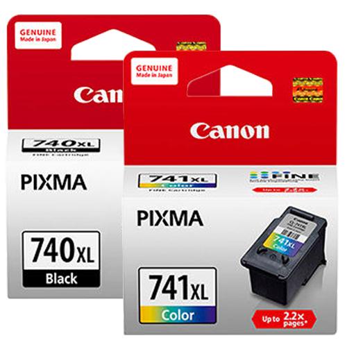 CANON PG-740XL+CL-741XL 墨水匣組 (2黑1彩)