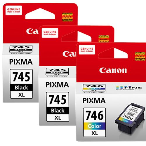 CANON PG-745XL+CL-746XL 墨水匣組 (2黑1彩)