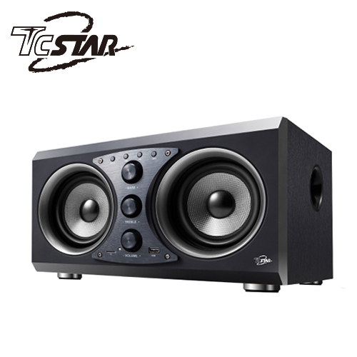 T.C.STAR TCS3100BK 多功能蓝牙木箱喇叭 黑