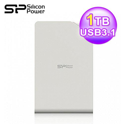 SP 廣穎 Stream S03 2.5吋1TB外接硬碟3.0 白