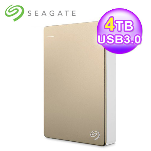 Seagate 希捷 Backup Plus 2.5吋 4TB外接硬碟 金