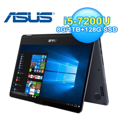 ASUS 華碩 TP410UR-0121A7200U 15.6吋 翻轉觸控筆電 灰