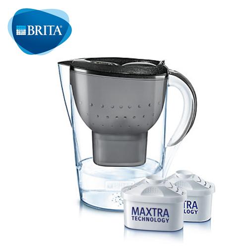 BRITA 馬利拉星燦濾水壺 黑+MAXTRA P1