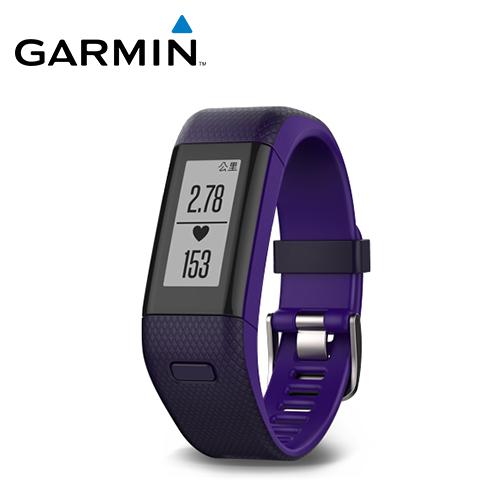 GARMIN VivoSmart HR+ 心率GPS智慧手环 紫