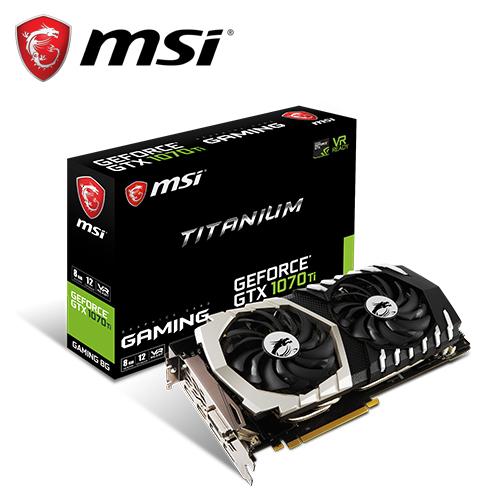 MSI 微星 GTX 1070 Ti Titanium 8G 鈦金板顯卡