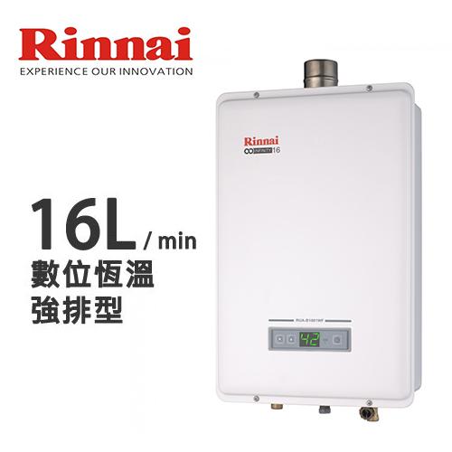 林内 Rinnai 强制排气式16L热水器(RUA-B1601WF)