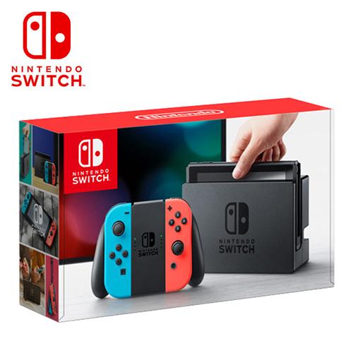 NS 任天堂 Nintendo Switch 主機 電光紅藍手把組(台灣公司貨)