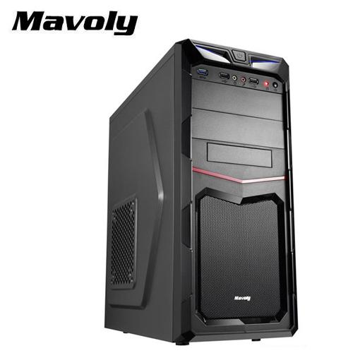Mavoly 松聖|火龍果USB3.0 ATX黑化電腦機殼