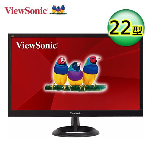 優派 21.5吋 VA2261H-8 寬螢幕顯示器【1920x1080、對比1000:1、亮度250cd、D-Sub/DVI 、三年保固 】