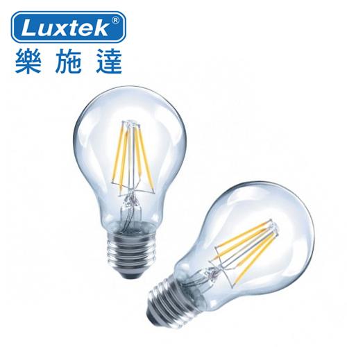 LUXTEK 樂施達|LED 不可調光 燈絲燈泡(暖白光) A19-6W 2入