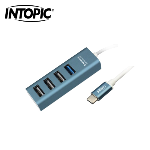 INTOPIC USB3.0 Type-C 高速集线器(蓝色) HBC-530
