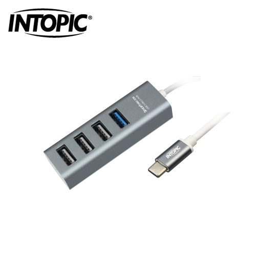 INTOPIC USB3.0 Type-C 高速集线器(灰色) HBC-530