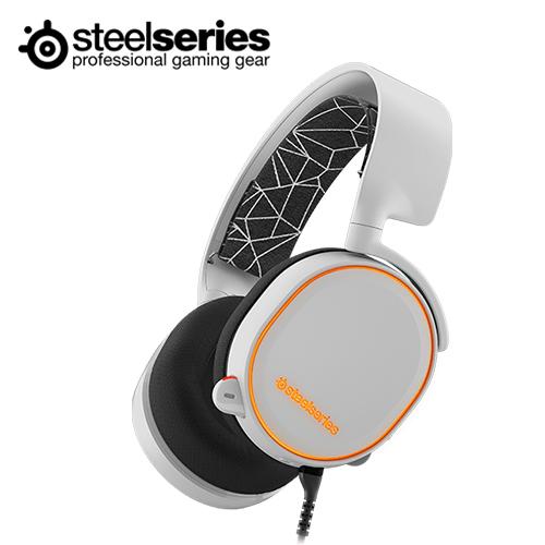 Steelseries 赛睿 Arctis 5 耳机麦克风(白色)