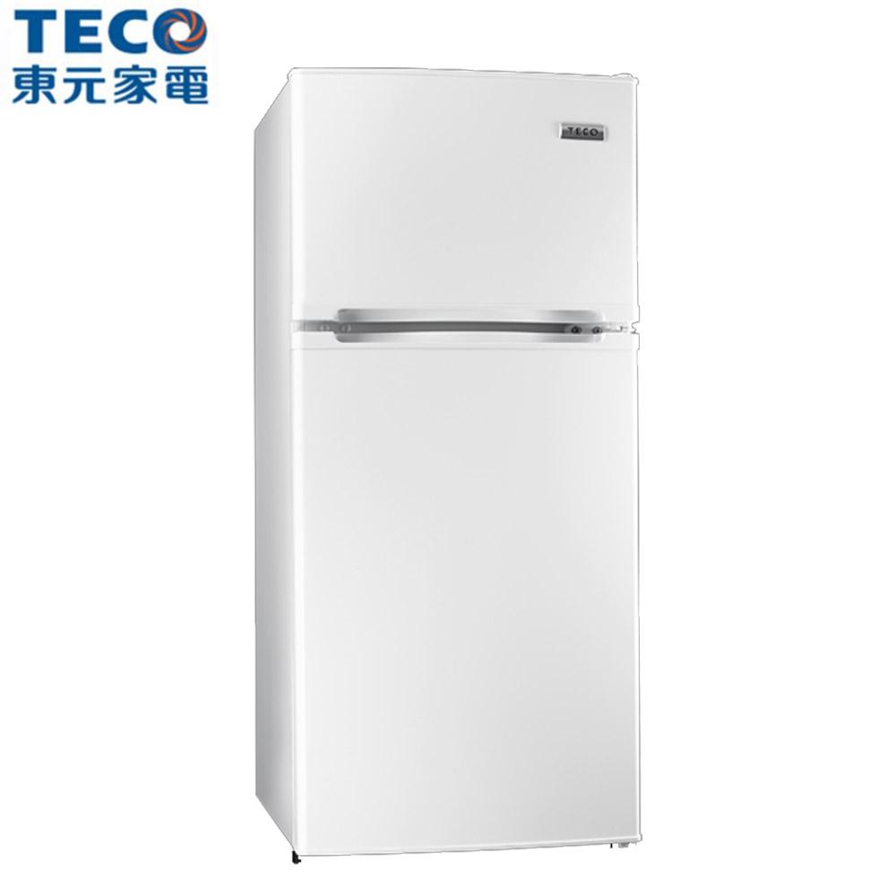 【TECO東元】125L小鮮綠系列雙門電冰箱R1303W