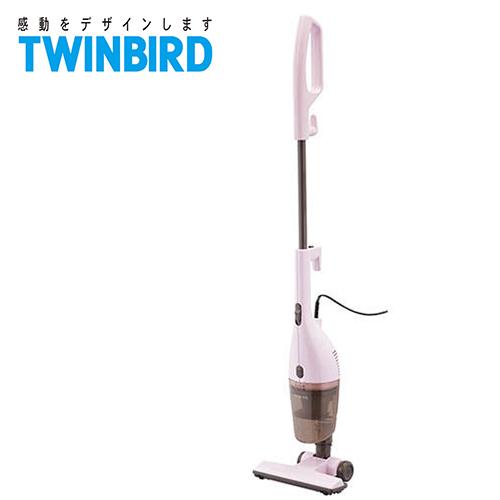 日本 TWINBIRD 手持直立两用吸尘器 粉红 TC-5220TWP