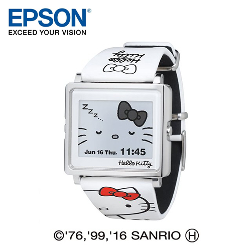 EPSON Smart Canvas Hello Kitty 凱蒂貓 電子紙腕錶