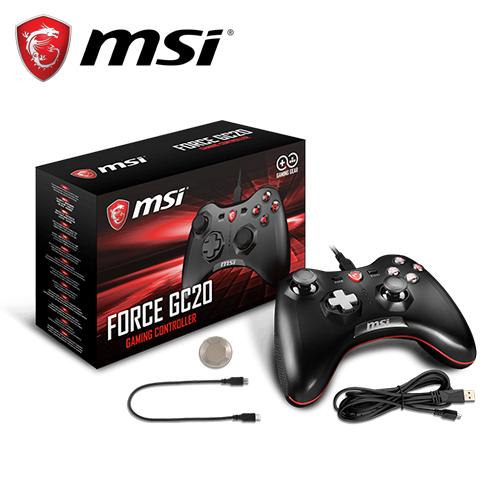 MSI 微星 Force GC20 摇捍控制器游戏手把