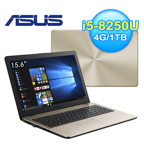 ASUS 華碩 VivoBook 15.6吋 FHD 筆電 冰柱金(X542UQ-0111C8250U)