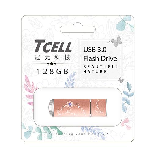 TCELL 冠元 USB3.0 128GB 绚丽粉彩随身碟-玫瑰金