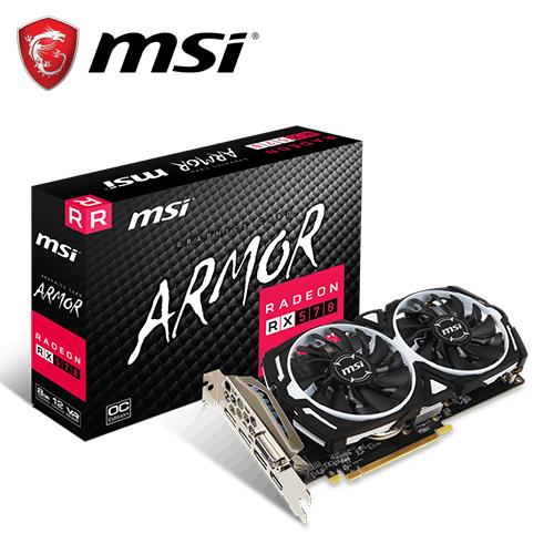 MSI 微星 Radeon RX 570 ARMOR 8G OC 顯示卡