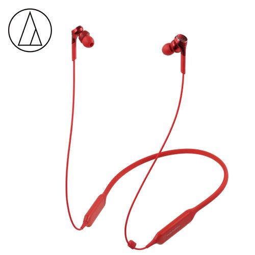 【audio-technica 鐵三角】ATH-CKS770XBT 頸掛式藍牙耳機 紅色