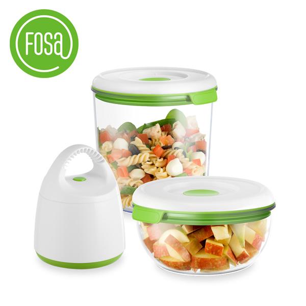 【FOSA|真鮮寶】真空保鮮盒套裝/圓盒 30010