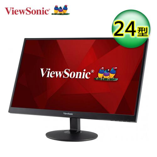 【ViewSonic 優派】24型VA寬螢幕(VA2403-MH)【加贈全家咖啡兌換序號】