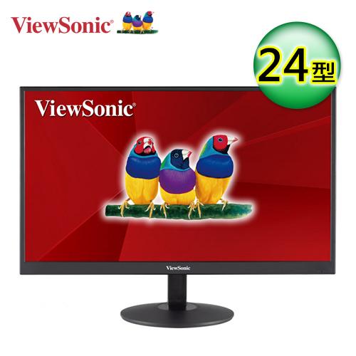 【ViewSonic 優派】24型VA寬螢幕(VA2403-H)【加贈全家咖啡兌換序號】