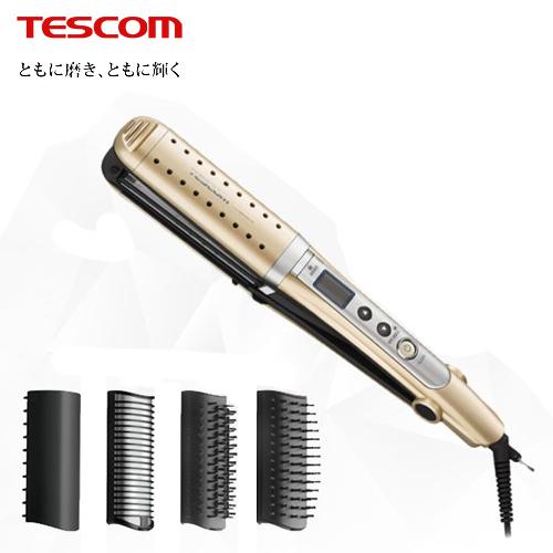【TESCOM】負離子多功能整髮器 香檳金(TTH2610)