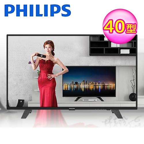 【PHILIPS 飛利浦】40吋薄聯網智慧顯示器+視訊卡 40PFH4052