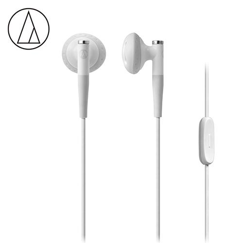 【audio-technica 鐵三角】ATH-C200iS 智慧型手機專用 耳塞式耳機-白色
